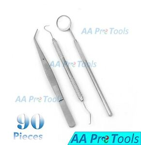 Aa Pro Dentist Dental Mouth Mirror And Scaler Hygiene Examination Set Of 90 Pcs