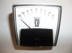 Vintage Dukane General Electric Vu Meter Ge