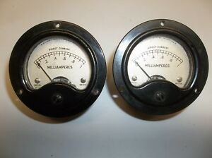 Pair Of Vintage G m Laboratories Inc Dc Milliamperes Meters 0 1 Model 2 2
