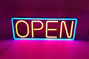 Cm Global Mystiglo Led open Sign Flashing Rolling Open Business Sign