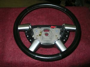 Nos 2004 2005 Gto Leather Steering Wheel With Radio Controls Red Stitching