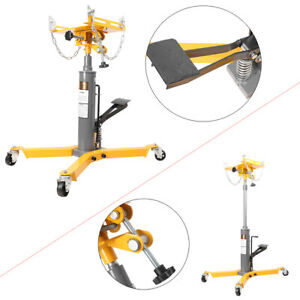 1100lb Transmission Jack 2 Stage Hydraulic With Pulley 360 For Car Auto Lift
