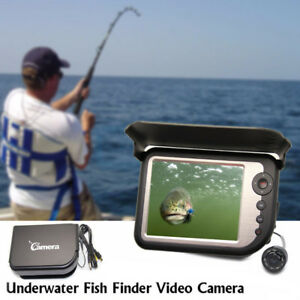 LCD 5.0'' Color Monitor FishFinder Underwater Video Fishing Camera IR Lights 25M