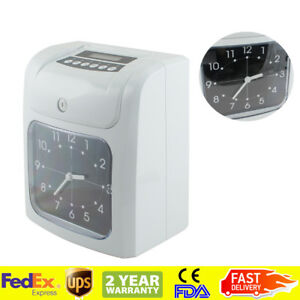 Electronic Time Clock Machine Employee Work Hours Recorder With Time Clock Cards