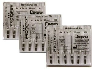 Dentsply Protaper Universal D1 D2 D3 Rotary File Assorted 18 Files Dental