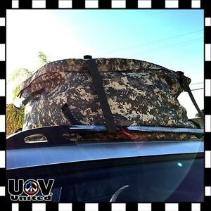 Car Roof Top Cargo Suv Deluxe Carrier Bag Storage Weather Proof Luggage Camo
