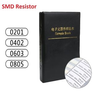 Components Samples Book 0201 0402 0603 0805 170 Values Smd Resistor Assorted Kit