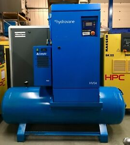 Hydrovane Hv04 Receiver Mounted Rotary Vane Compressor With Filters