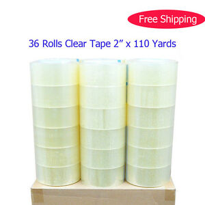 36 Rolls Clear Tape 2 Mil Thick 2 110 Yards Carton Sealing Packing Shipping