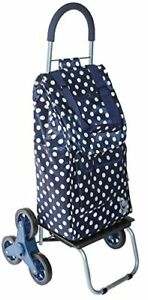 Trolley Dolly Stair Climber Blue Polka Dot Grocery Foldable Cart Condo Apartmen