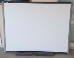 10 Each Smart Sb680 77 Smartboards Interactive White Boards With Pen Trays