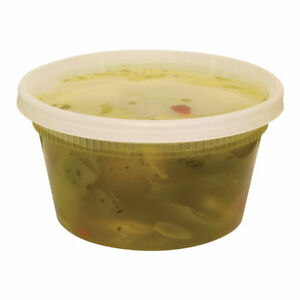 240 Count Plastic Deli Food Container 12 Oz Delitainer With Lids