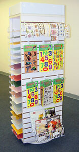New Retail All In One Scrapping Spinner Display Rack Shelf White Finish