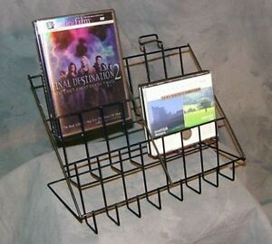 3 tier 6 Pocket Literature Counter Display Rack Great For Books Cd s Dvd s Cards