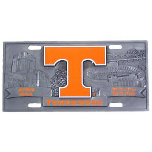 Tennessee Volunteers Vols sec Ncaa 3d Pewter Novelty Collectors License Plate