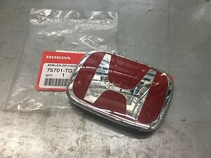 2017 Genuine Honda Civic 5dr Hatchback Type r Rear Red H Emblem