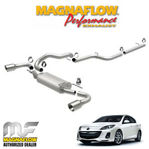 Magnaflow 2 5 Cat Back Dual Stainless Exhaust Kit 2010 2013 Mazda 3 2 5l 15146