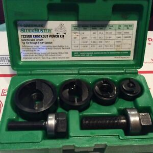 Greenlee Slug Buster Knockout Punch Set 7235bb 1 2 1 1 4 Conduit