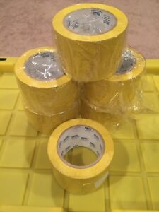lot Of 6 U line 3 Wide Vinyl Safety Yellow Tape 36 Yard Roll