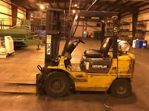 2001 Caterpillar Triple Mast Forklift Gp25k