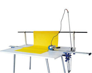 220v High Speed Fabric End Cutter With 86 Rack Digital Counter Springback