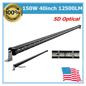 Top 40inch 150w Cree Led Work Light Bar 5d Len Single Row Driving Lamp Atv 41 42