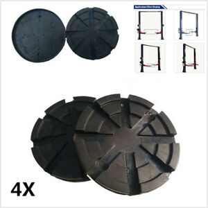 4x Black Round 123 Mm Rubber Arm Pads Lift Pad For Car Suv Auto Truck Lift Hoist Fits More Than One Vehicle