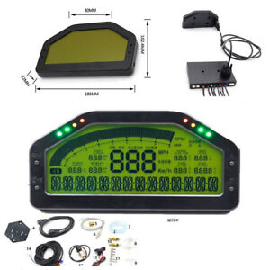 Car Dash Race Display Gauge Sensor Kit Dashboard Lcd Screen 9000rpm Rally Gauge