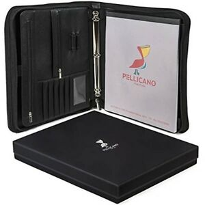 Portfolio Case W Writing Pad Tablet boogie Board Pocket ring Binder organizer