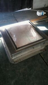 Stainless Steel Roof Hatch With A Skylight 40 Inches By 40 Inches