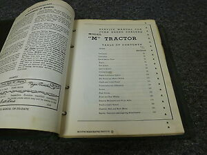John Deere Model M Utility Farm Tractor Original Shop Service Repair Manual Book