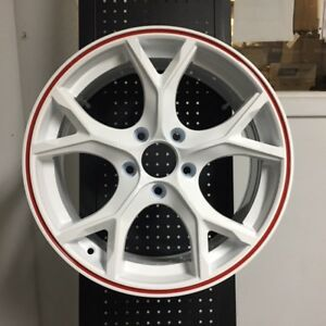 18 Type R Style Fits Honda Civic Si New White Red Lip Alloy Wheels