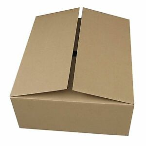 50 Pack 24x14x4 Flat Corrugated Packaging Packing Shipping Moving Cardboard Box