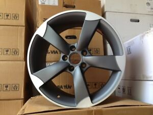 19 Wheels Rims Titanium Audi S4 Rs S Line Sline 4motion Vw Mkv Mkvi Gti Jetta