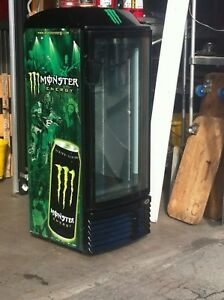 1glass Door Cooler Moster Energy Drink