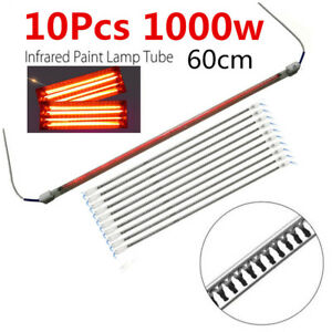 10pcx1000w Baking Booth Ir Infrared Paint Curing Lamp Heating Tubes For Car Body