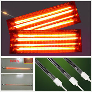 10pcsx1000w Car Spray Baking Booth Ir Infrared Paint Curing Lamp Heating Tubes