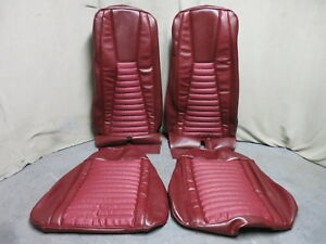 1971 Mustang Mach 1 Bucket Seat Full Upholstery Set Reproduction Maroon Red