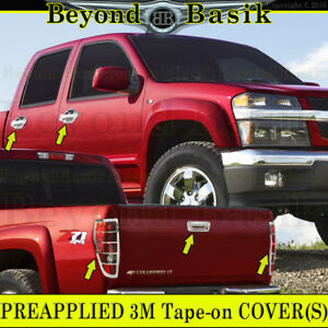 2004 2012 Chevy Colorado Canyon Chrome Door Handle Covers Tailightbezel Tailgate