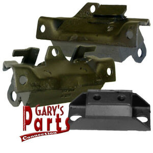 Engine Trans Mounts 3 Pontiac Firebird 455 V 8 1971 74 W th400 Trans
