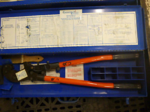Thomas Betts Manual Crimper Tbm6 With Carrying Case Fast Shipping