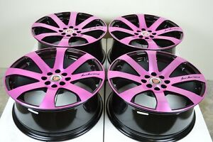 17 Pink Wheels Rims Cobalt Civic Accord Corolla Cooper Spectra Ion 4x100 4x114 3