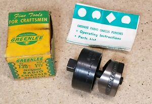 Greenlee No 730 1 1 2 Diameter Punch And Die Set Radio Chassis Punch