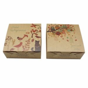 Brown Kraft Paper Foldable Box Recyclable Cardboard For Gift Wedding Favor Pack