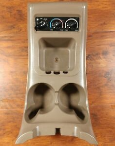 Ford F150 Expedition Eddie Bauer Tan Center Console Cup Holder Rear Air Control
