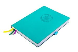 Undated Soft Cover Daily Planner Notebook With Meal Planner Organizer turquoise