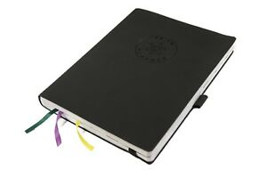 Undated Soft Cover Daily Planner Notebook With Meal Planner Organizer Black