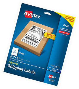 Avery Internet Shipping Labels With Trueblock Technology For Inkjet Printers 5