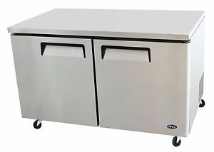Atosa Stainless Steel Under counter 60 inch Two Door Refrigerator Energy Star