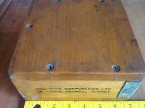 Cool Old Vintage Box labeled Serrated 2983 11 Point Uk Monotype Letterpress